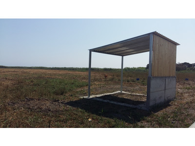 One of the four cattle sheds created at Akrotiri marsh