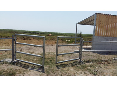 Works for erecting a fence and cattle sheds on site - August 2016